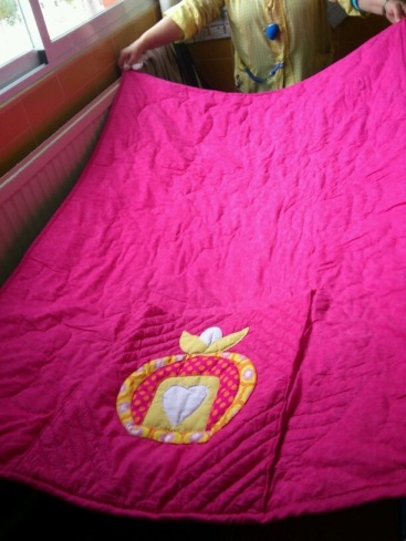 Detalle de la trasera de la manta Quilt