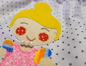 Aplicación infantil princesa patchwork costura